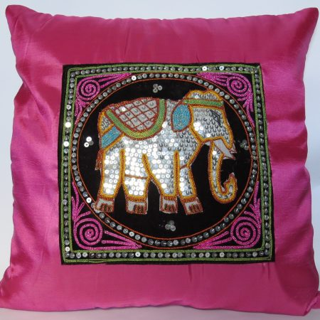 Cushion Cover Elephant Pink Silk RDS