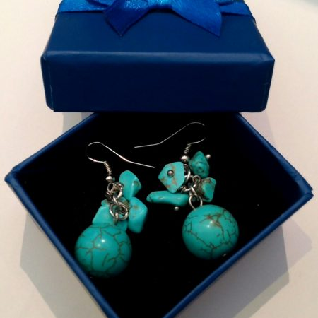 earrings-turq-ball-cluster-rds
