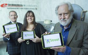 free pic no repro fee Barney Whelan An Post ,Gillean Guy eStreet/Ludgate and Lord David Puttnam pictured as The Ludgate HUB with support from An Post launched eStreet. eStreet is a website that allows small retailers the opportunity to reach a global audience by selling on one online platform together. It is especially useful for consumers as all the items ordered from the different stores are shipped together.Skibbereen is the first town in Ireland to pilot the eStreet initiative and 11 retailers in the town have already signed up to it. Photography by Gerard McCarthy 087 8537228 more info contact Richard Brophy Insight Consultants 01 29 39 977 01 29 39 952 086 385 32 60