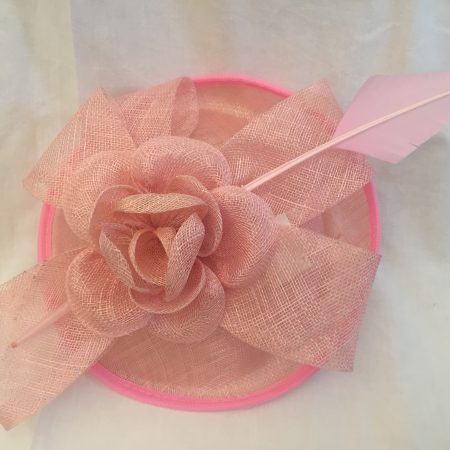 Pink Arrow Feathered Fascinator