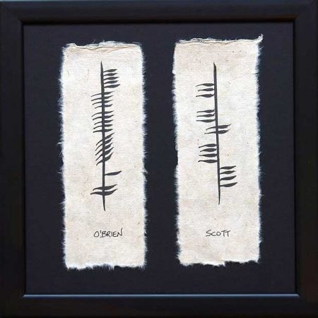 Ogham Double Wedding Plaque