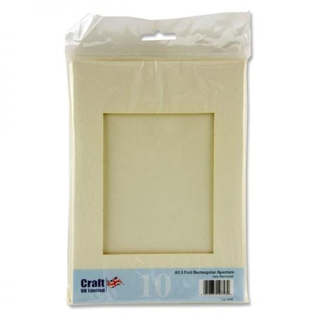 Craft UK Ltd. A5 3-Fold Ivory Aperture Cards & Envelopes