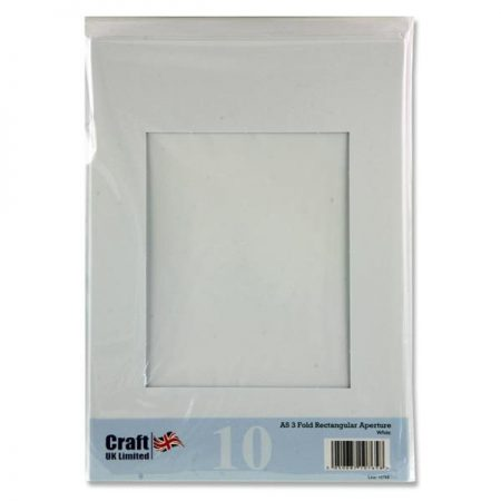Craft UK A5 3-Fold Smooth White Aperture Cards & Envelopes
