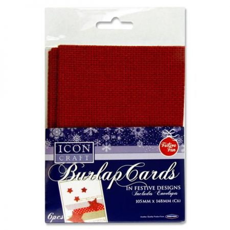 Icon Craft C6 Burlap Cards & Envelopes