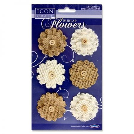 Icon Craft Burlap Flower Embellishments