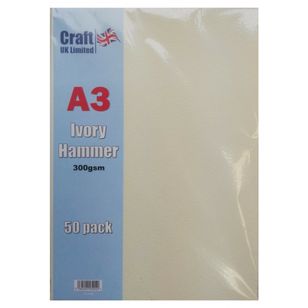Craft UK Limited A3 Ivory Card Hammer Finish