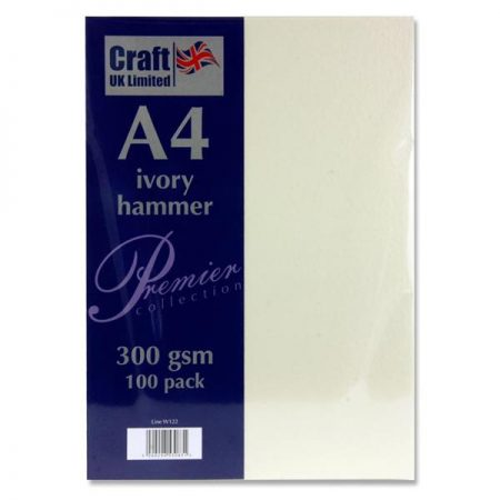 Craft UK Limited A4 Ivory Card Hammer Finish