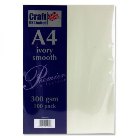 Craft UK Limited A4 Ivory Card Smooth Finish