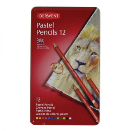 Derwent Tin Set 12 Pastel Pencils