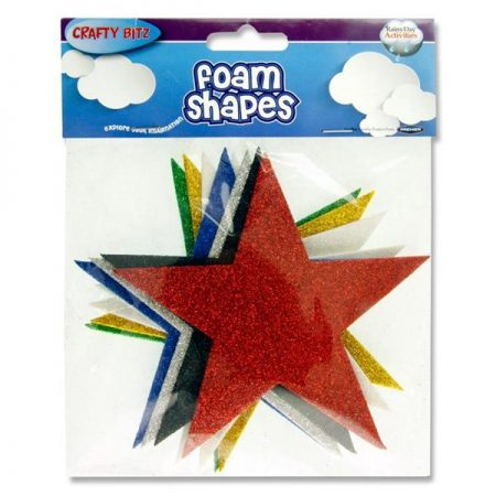 Crafty Bitz Foam Shapes Glitter Stars