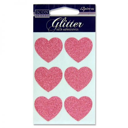 Icon Craft Glitter Heart Stickers