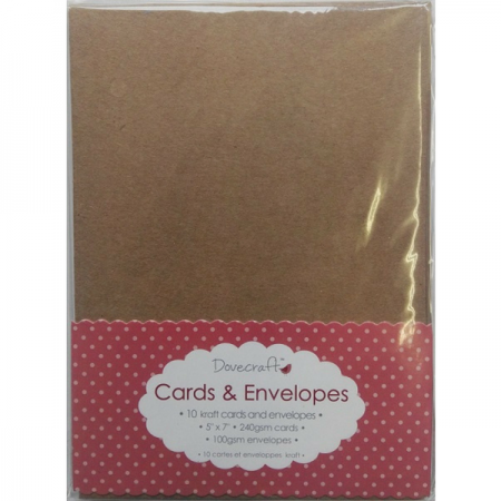 Dovecraft 5 x 7 Kraft Cards & Envelopes