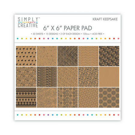 "Simply Creative ™ Kraft Keepsake 6"" x 6"" Paper Pad"