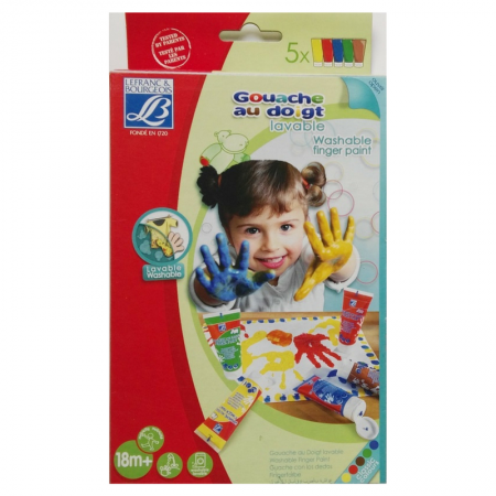 LEFRANC & BOURGEOIS Washable Finger Paint Set