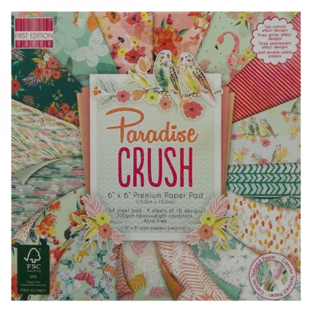 "First Edition ™ Paradise Crush 6"" x 6"" Premium Paper Pad"