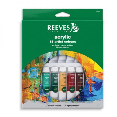 Reeves Acrylic 18 Tube Set