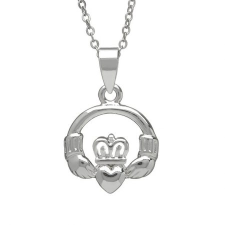 Silver Plated  Claddagh Pendant