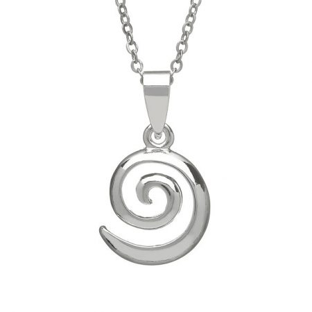 Silver Plated  Spiral Pendant