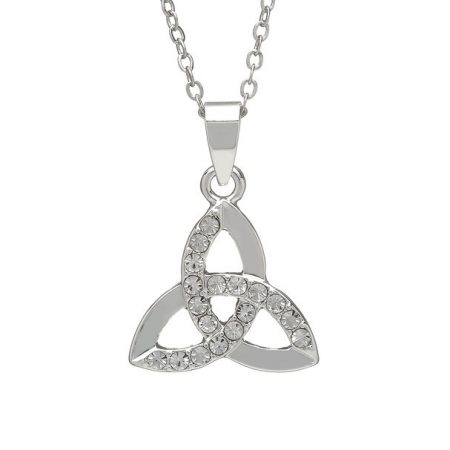 Silver Plated CZ Trinity Pendant