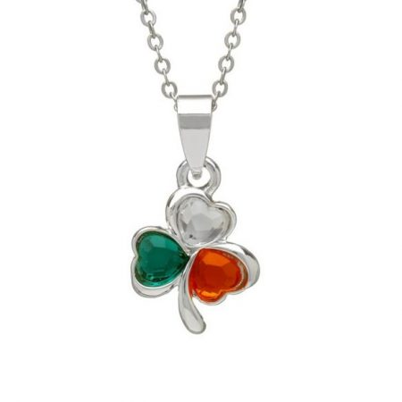 Silver Plated  Tricolour Shamrock