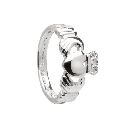 Silver Plated Claddagh Ring