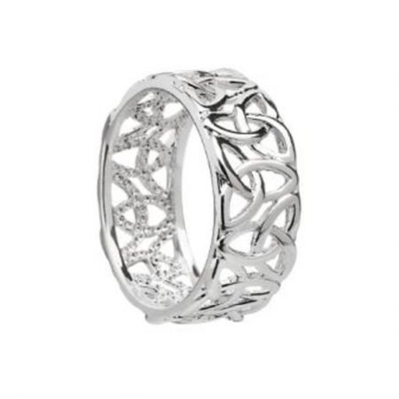 Silver Plated  Trinity Ring