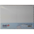"Craft UK Ltd. 5"" x 7"" Scalloped White Cards & Envelopes"