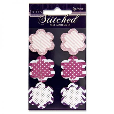 Icon Craft 3D Stitched Purple Flower Embellishments