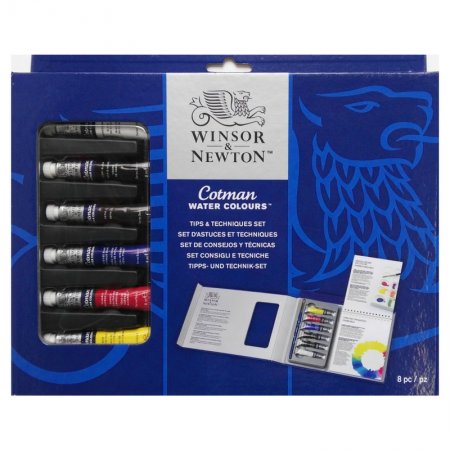 Winsor & Newton Cotman Water Colours Tips & Techniques Set