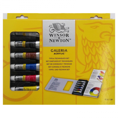 Winsor & Newton Galeria Acrylic Tips & Techniques Set