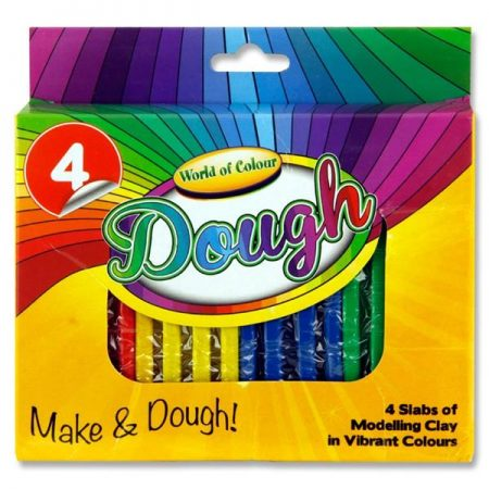 World of Colour Set Of 4 Dough
