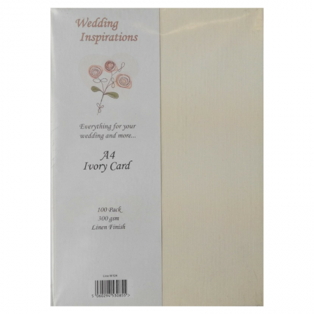 Wedding Inspirations A4 Ivory Card Linen Finish