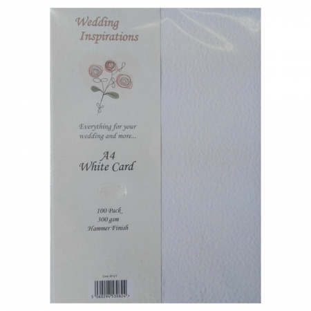 Wedding Inspirations A4 White Card Hammer Finish
