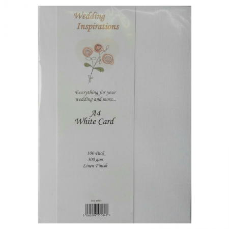 Wedding Inspirations A4 White Card Linen Finish