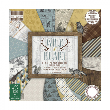 "First Edition ™ Wild at Heart 6"" x 6"" Premium Paper Pad"