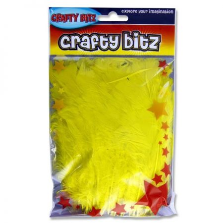 Crafty Bitz Yellow Feathers