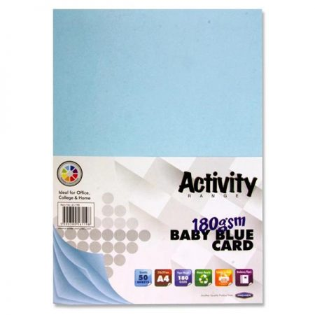 Premier A4 Baby Blue Activity Card