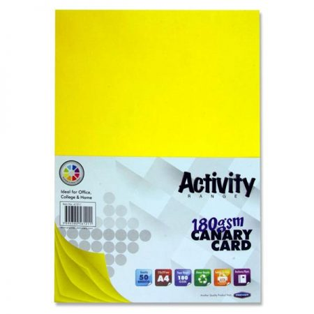 Premier A4 Canary Activity Card