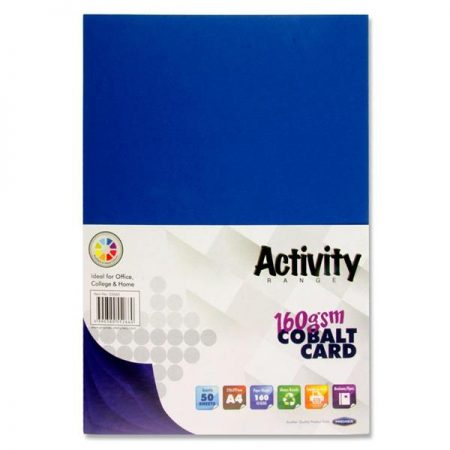 Premier A4 Cobalt Activity Card