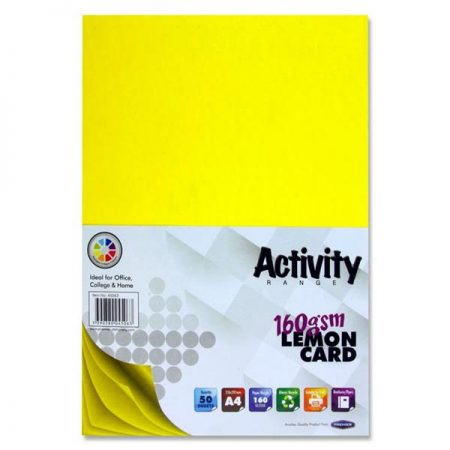 Premier A4 Lemon Activity Card