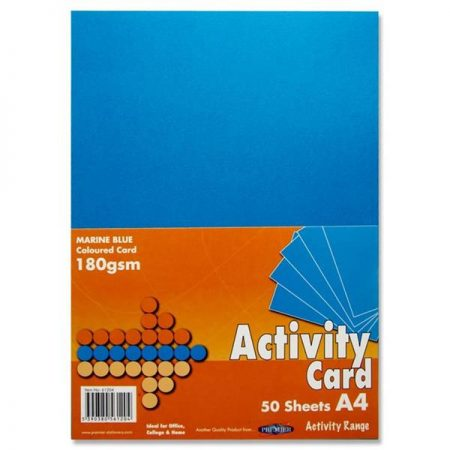 Premier A4 Marine Blue Activity Card
