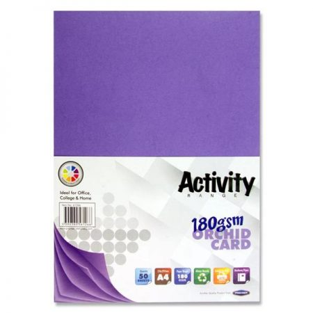 Premier A4 Orchid Activity Card