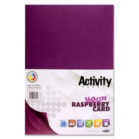 Premier A4 Raspberry Activity Card