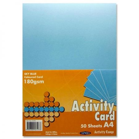 Premier A4 Sky Blue Activity Card