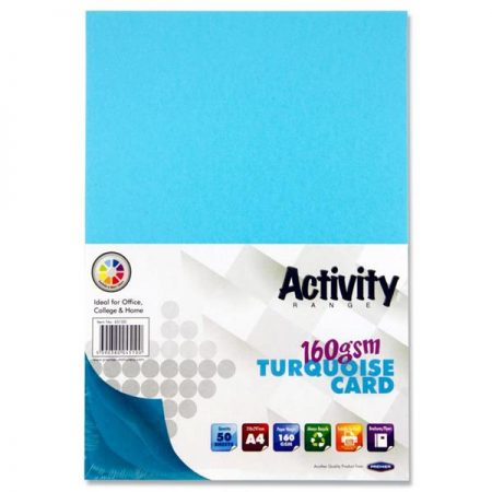 Premier A4 Turquoise Activity Card
