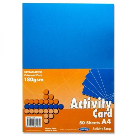 Premier A4 Ultramarine Activity Card