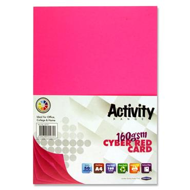 Premier A4 Cyber Red Activity Card
