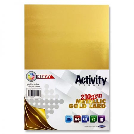 Premier A4 Metallic Gold Heavy Activity Card