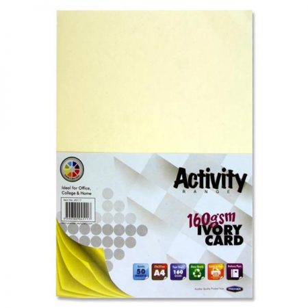 Premier A4 Ivory Activity Card