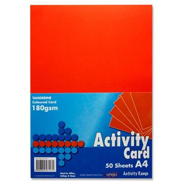 Premier A4 Tangerine Activity Card